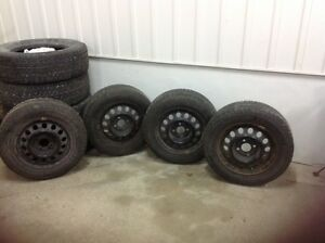 Barely used Michelin X-ice Tires WITH RIMS!