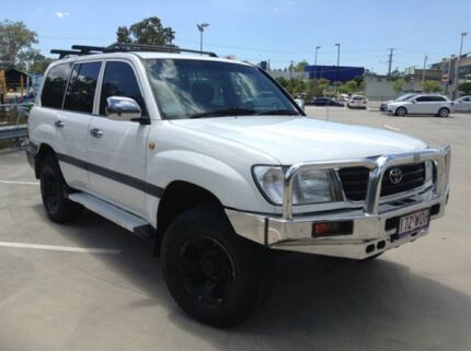 1998 Toyota Landcruiser GXL (4x4) White 4 Speed Automatic 4x4 Wagon Morayfield Caboolture Area Preview
