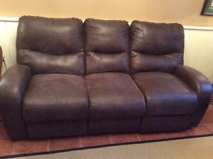 Leather Double Reclining Sofa