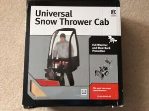 Snowblower Wind Cab To Shield From Weather