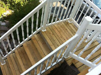 Handyman - Deck Re-Building and PVC Railings to Bath Makeovers