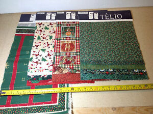 Telio fabric samples for crafts - 20 sampler of mostly Christmas Cambridge Kitchener Area image 4