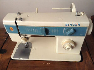 SINGER SEWING MACHINE WITH A CUSTOM BUILT TABLE