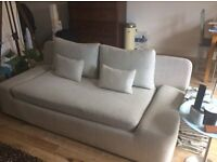 Habitat Kasha sofa, light gray in good nick