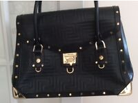 Versace black ladies handbag