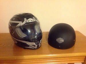Two Motorcycle Helmets for $100.