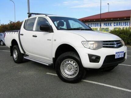 2010 Mitsubishi Triton MN GLX White 4 Speed Automatic Dual Cab Victoria Park Victoria Park Area Preview