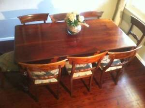 Mahogany Dining Table & Chairs Beecroft Hornsby Area Preview