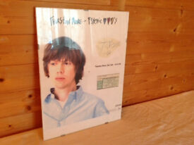 Thurston Moore poster and Autograph at Jazz Cafe 16th April 1996 in glass frame 30cm x 40cm