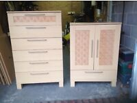 Beech Wood Drawers and TV Cabinet