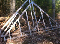 Roof trusses: 14' span, 12/12 pitch