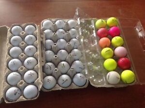 LOT OF 50 USED GOLF BALLS - LOT DE 50 BALLES DE GOLF