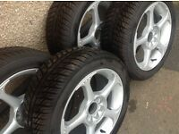 Wolfrace alloy wheels