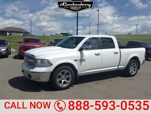2017 Ram 1500 4WD CREWCAB LARAMIE Leather,  Heated Seats,  Back-