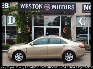 2007 Toyota Camry LE*LOW KM*AUTO*4CYL*FINANCE HERE-100% APPROVED