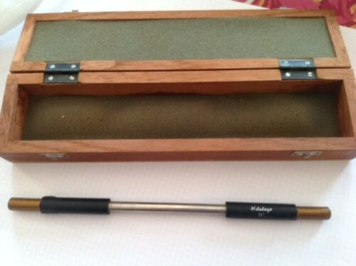 """MITUTOYO CABIBRATION ROD, 11"""", WITH BOX, NEW OTHER"""