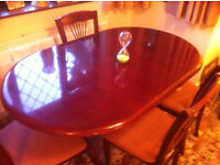 Mahogany Dining Table & Six Chairs
