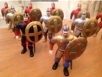 14 Foot soldiers Middle Ages - good sized soldiers with shields and swords.