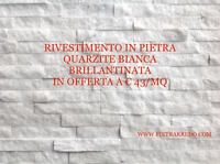 Rivestimenti In Pietra Vera Naturale Quarzite Bianca - natura - ebay.it