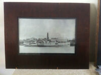 Antique Photo  with Glass and Frame