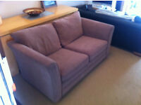 Beige Fabric 2 Seater Sofa for sale