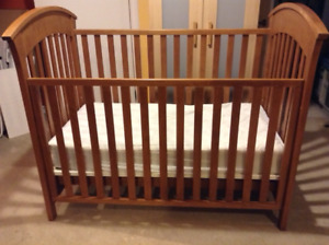Solid Wood Baby Crib & accessories