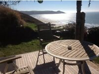 Log Cabin at Whitsand Bay, Cornwall with idyllic views - Late availability