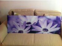 Glass wall art for sale in Purple