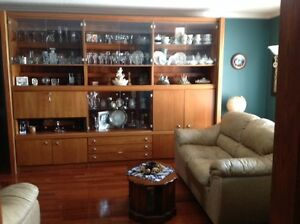 ROSEWOOD 3 Sectional Wall Unit with Bar for Sale $300 OBO