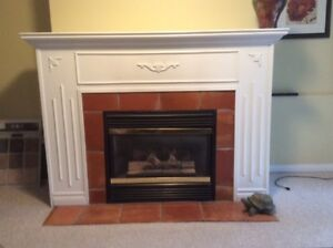 Fireplace mantel and frame