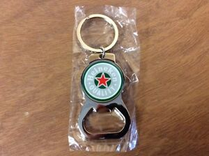 heineken beer bottle opener key chain chrome double sided new ebay. Black Bedroom Furniture Sets. Home Design Ideas