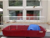 Large indoor rabbit/guinea pig hutch - hardly used