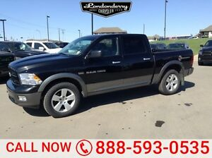 2011 Ram 1500 4WD CREWCAB OUTDOORS Accident Free,  Sunroof,