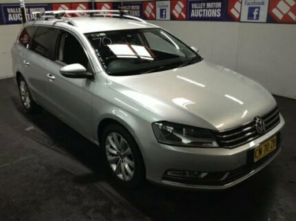 2010 Volkswagen Passat 3C MY10 Upgrade 118 TSI Silver 7 Speed Auto Direct Shift Wagon Cardiff Lake Macquarie Area Preview