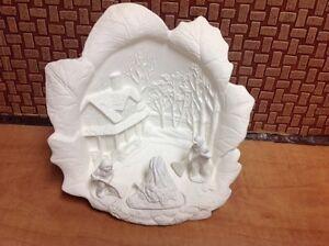 Céramique artisanale Noël (pièces) non peint 25.00 - 30.00$