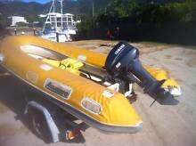 INFLATABLE ALUMINIUM HULL RIB - 15HP YAMAHA - REDCO TRAILER Nelly Bay Townsville City Preview