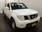 2012 Nissan Navara D40 MY12 RX (4x4) White 6 Speed Manual Dual Cab Pick-up Cardiff Lake Macquarie Area Preview