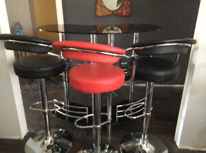 bar table with 3 bar stools as set check my other ad more stool