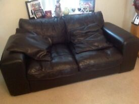 Leather sofas 1x3 seater & 1x 2 seater