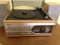 STEEPLETONE RECORD PLAYER with CD PLAYER/RECORDER