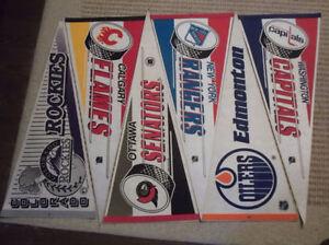 NHL Team pennants $3 each