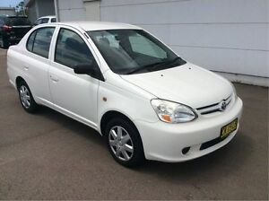 2004 Toyota Echo NCP12R MY03 White 4 Speed Automatic Sedan Cardiff Lake Macquarie Area Preview