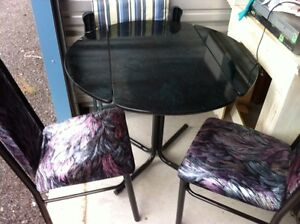 3 PC DINING TABLE AND CHAIRS