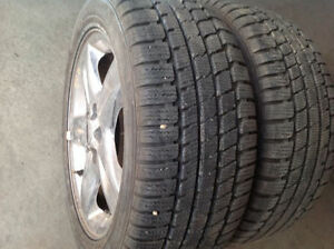 (235-50-17) 2 WINTER TIRES 95%TREAD OF MERCURY