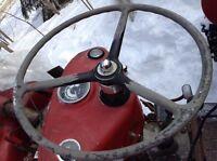 Tracteur Massey ferguson équipement souffleur inclus