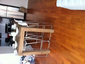 RUSTIC BAR TABLE & 4 CHAIRS