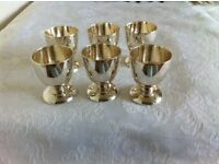 6 Silver plated Egg Cups