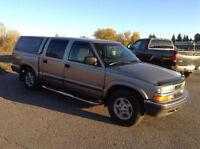 2002 Chevrolet S10 crewcab 4x4, ZR5 ,Free Warranty , auto $3350.