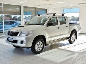 2013 Toyota Hilux KUN26R MY12 SR (4x4) Silver 4 Speed Automatic Dual Cab Pick-up Morley Bayswater Area Preview
