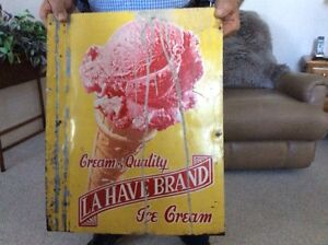 Double Sided Ice Cream Metal Sign..
